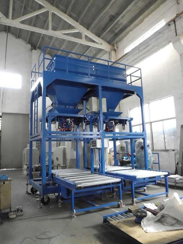 Dual Line Jumbo Bag Filling Machine Pellet Feed Grain
