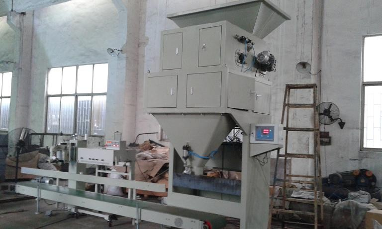 Dual Hopper Gravel / Stone / Pebble Auto Bagging Machines With Electric Control Cabinet