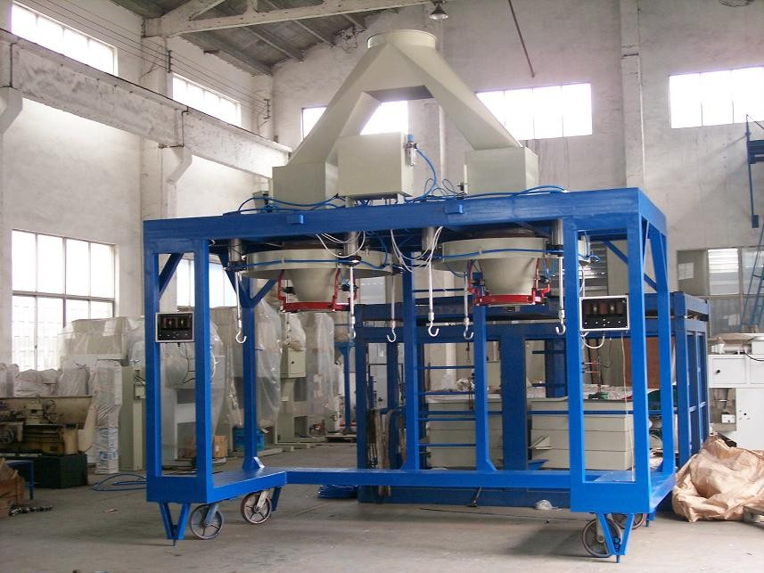 Dual Line FIBC Bulk Bag Filling Machine , Jumbo Bag Bagging Scale